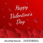valentines day abstract... | Shutterstock .eps vector #243558001
