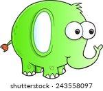silly goofy elephant vector... | Shutterstock .eps vector #243558097