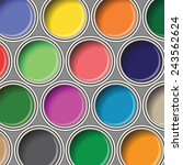 colorful illustration  with ... | Shutterstock .eps vector #243562624