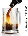 stream of dark alcohol beer... | Shutterstock . vector #24356431