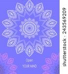 ornament with mandala. open... | Shutterstock .eps vector #243569209