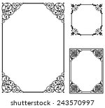 scroll frames   set of vector... | Shutterstock .eps vector #243570997