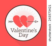 vector st. valentine's day... | Shutterstock .eps vector #243573421