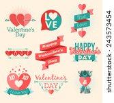 set of vector st. valentine's...   Shutterstock .eps vector #243573454