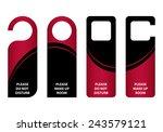 door knob   do not distrub   Shutterstock .eps vector #243579121