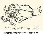 valentine s day labels. vector... | Shutterstock .eps vector #243584524