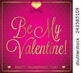 elegant typographic valentine's ... | Shutterstock .eps vector #243585109