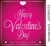 elegant typographic valentine's ... | Shutterstock .eps vector #243585121