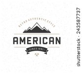 retro vintage insignia ... | Shutterstock .eps vector #243587737