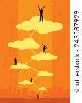 seventh heaven successful... | Shutterstock .eps vector #243587929