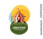 circus tent vector logo design... | Shutterstock .eps vector #243591034