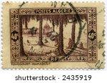 Vintage Algeria Postage Stamp World Ephemera - stock photo