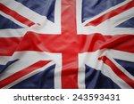 closeup of union jack flag | Shutterstock . vector #243593431