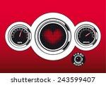 futuristic vector love... | Shutterstock .eps vector #243599407
