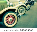 composition of vintage car... | Shutterstock . vector #243605665