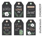 valentine's day gift tags | Shutterstock .eps vector #243608209