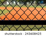 Close Up Chain Link Fence At...