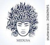medusa head  | Shutterstock .eps vector #243609691