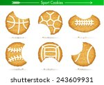 what's your sport cookie | Shutterstock .eps vector #243609931