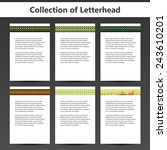 collection of letterheads for... | Shutterstock .eps vector #243610201
