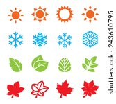season icon set | Shutterstock .eps vector #243610795