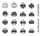 print  icon set | Shutterstock .eps vector #243610801