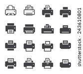 print  icon set | Shutterstock .eps vector #243610801