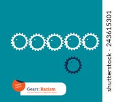 gears supporting gears. vector... | Shutterstock .eps vector #243615301
