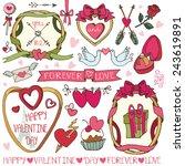 valentine day wedding love...   Shutterstock .eps vector #243619891