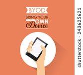 technology design over orange...   Shutterstock .eps vector #243625621