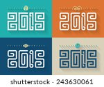 chinese new year type.year of... | Shutterstock .eps vector #243630061