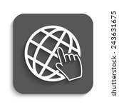 internet   vector icon with... | Shutterstock .eps vector #243631675