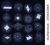 abstract polygonal label design.... | Shutterstock .eps vector #243631864