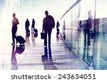 business travel airport... | Shutterstock . vector #243634051