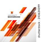 abstract flyer brochure... | Shutterstock .eps vector #243634399