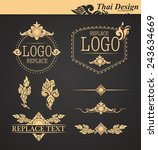 vector set  thai art design... | Shutterstock .eps vector #243634669