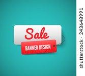 3d Sale Banner Tag. Sale Label...