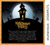 abstract halloween background... | Shutterstock .eps vector #243649171