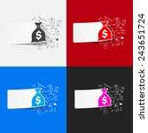 drawing medical formulas  sack | Shutterstock .eps vector #243651724