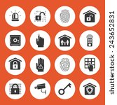 home security icons. black...   Shutterstock .eps vector #243652831