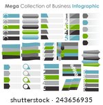 collection of infographic... | Shutterstock .eps vector #243656935