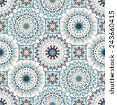 seamless folk pattern for... | Shutterstock .eps vector #243660415