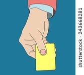 hand holding card  vector format | Shutterstock .eps vector #243668281