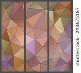 abstract triangles vector... | Shutterstock .eps vector #243675187