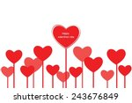 heart background valentine's day | Shutterstock .eps vector #243676849