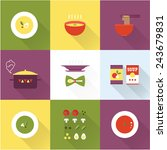 vector soup icon   Shutterstock .eps vector #243679831