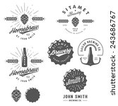vintage craft beer brewery... | Shutterstock . vector #243686767