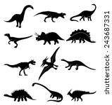 dinosaur icons set | Shutterstock .eps vector #243687331