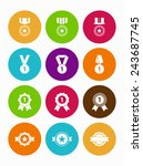 prize and award icons   medal... | Shutterstock .eps vector #243687745