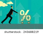 interest rate shopping a man... | Shutterstock .eps vector #243688219